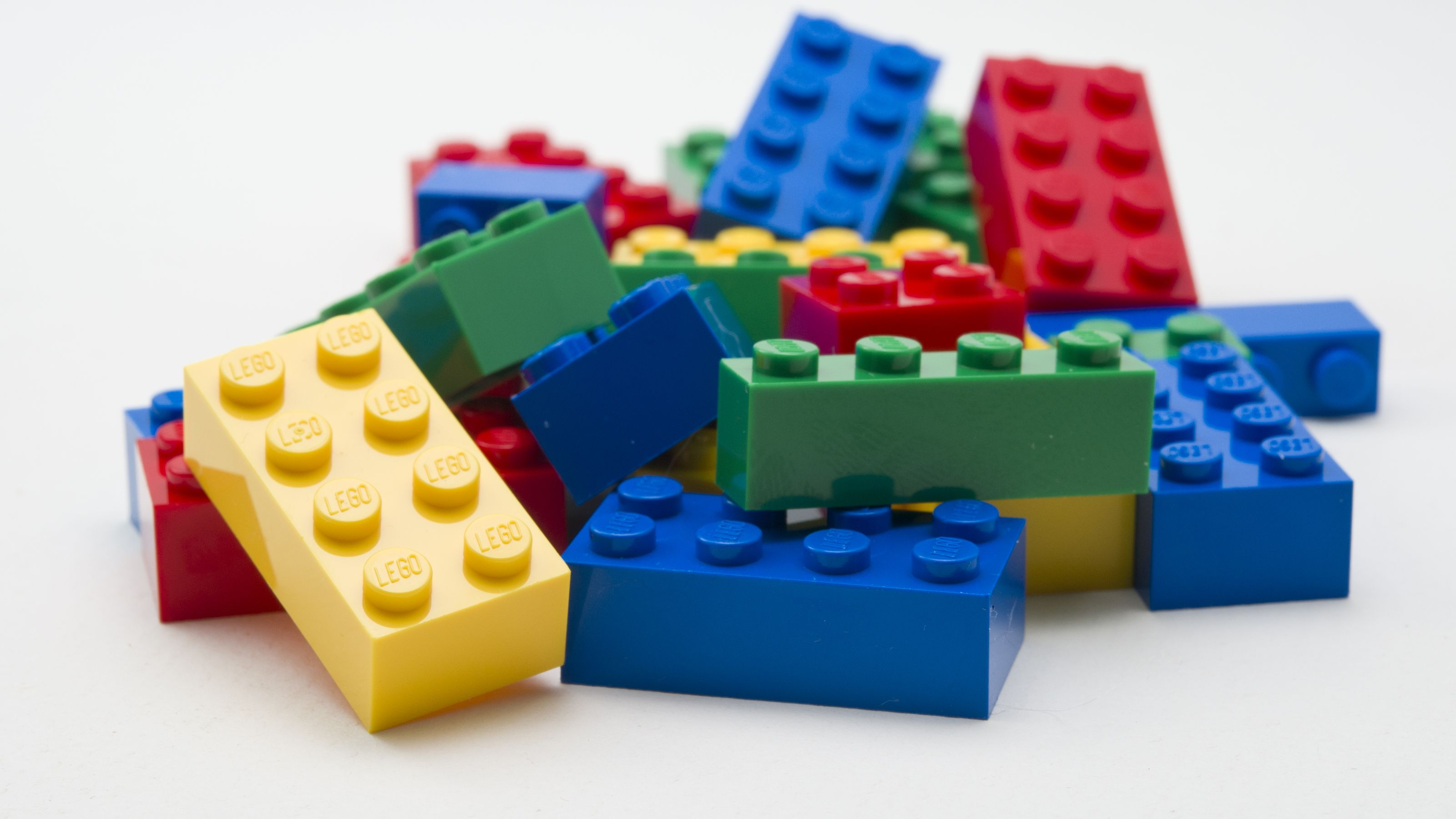 A stack of Lego blocks.