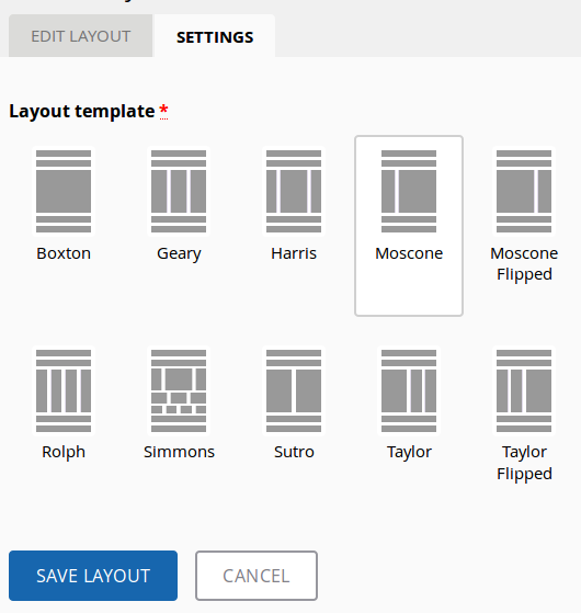 New Bootstrap Based Layouts