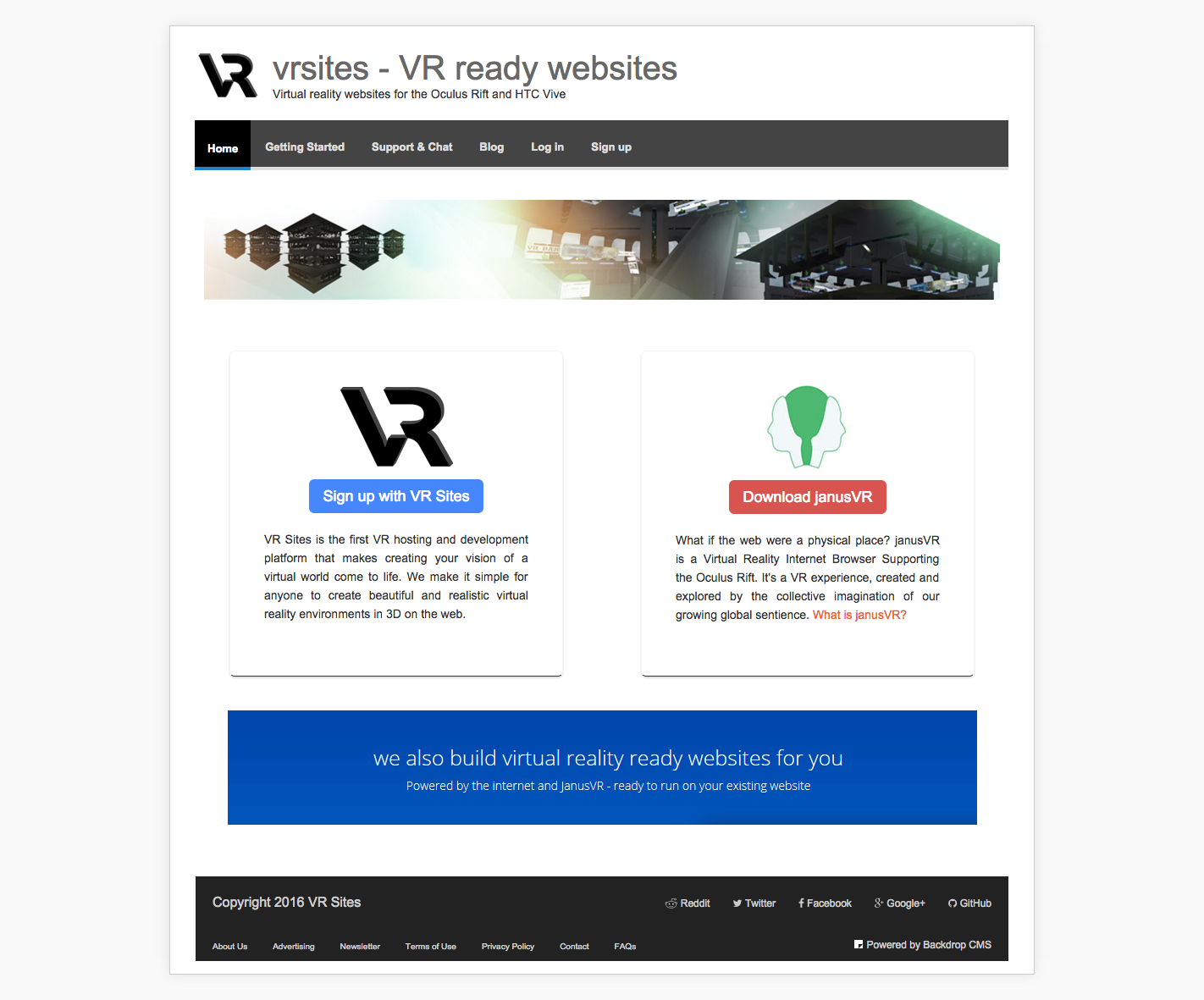 Virtual Reality Websites