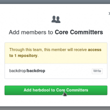 Add herbdool to core committers