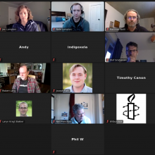 Group shot of participants in Zoom for Backdrop LIVE March 2021
