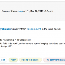 Screenshot of a comment from Drop, the Dragon.