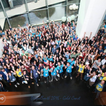 Group photo of attendees from Drupal South.