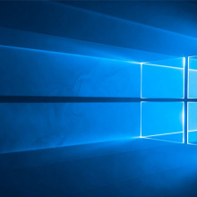 Windows 10 graphic: light streaming through a window.