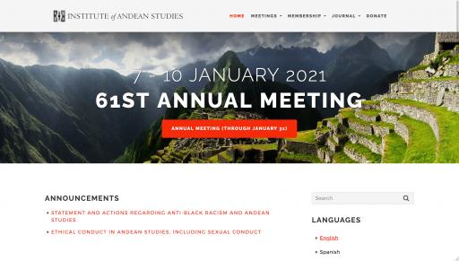 IAS home page - desktop