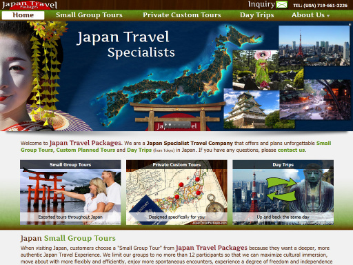 JapanTravelPackages.com desktop