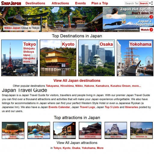 SnapJapan.com Desktop Screenshot