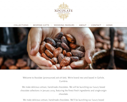 www.xocolate.co.uk - desktop